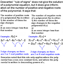 Descartes Rule Of Signs The Story Of Mathematics