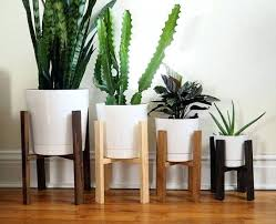 36 Plant Stand Mid Century Modern Wooden Indoor Throughout  Stands Prepare International Concepts 3069  Metal44