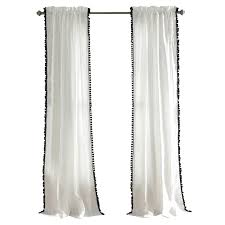 phone pom pom rod pocket single curtain panel