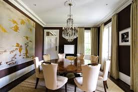 atlanta veranda round chandelier dining room traditional with oversized artwork wall mirrors formal