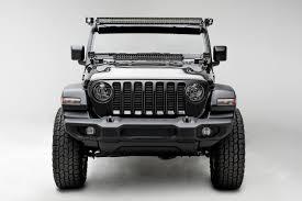 Wrangler Jl Light Bar 2018 2019 Jeep Wrangler Jl Wrangler Jlu Hood Hinge Led Kit Incl 1 30 Inch Led Straight Double Row Light Bar Pn Z344831 Kit D