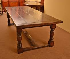 Bespoke Solid Oak Refectory Dining Table And 10 Chairs For Sale At