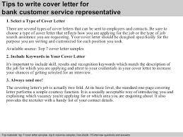 Bank customer service representative cover letter        Tips to write cover letter for bank customer service representative