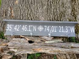 Personalized Family Coat Rack Personalized latitude longitude coat rack shelfcustom longitude 28