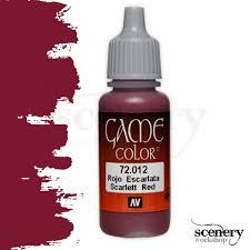 Vallejo Game Color Scarlet Red 17ml 72012 Scenery Workshop