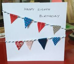 buntings birthday card