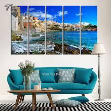 large wall paintingsAliexpresscom  Buy Large Wall Painting Blue Sea And Sky