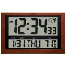 la crosse 513 1311a int jumbo digital atomic wall clock