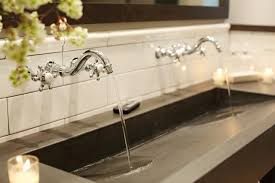 Remodeling a Trough Bathroom Sink With Two Faucets | Free Designs ...