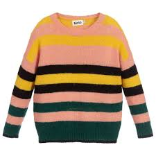 Mohair Salon Designers Of Hair Pink Striped Mohair Sweater