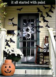 Halloween door bats
