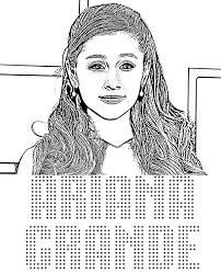 Small Picture Ariana Grande to color for free coloring pages celebrity