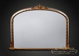 silver gold overmantel mirror from