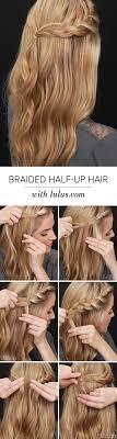 simple braided half up braid tutorial
