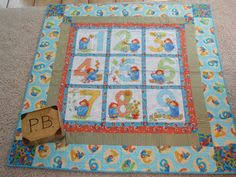 Paddington Bear Chalkboard Mat For by Allinastichquilts on Etsy ... & Dick and Jane child's or crib quilt 37 x 49 inches red and blue Great  Christmas gift. Paddington BearCrib ... Adamdwight.com