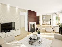 clean living room. Clean Living Room Interior With White Theme
