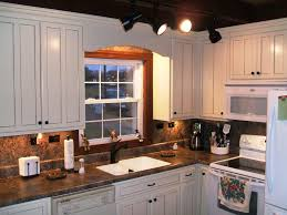 Diy White Kitchen Cabinets Staining Kitchen Cabinets With Different Colors Security Door
