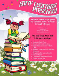 Free Child Care Flyer Templates Early Learning Preschool Flyer Home