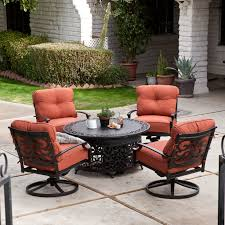 table fire pit patio and chairs cast aluminum set costco sierra propane patio table with modern outdoor