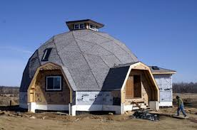 A few adventurous souls building their own dome home in central Wisconsin  are going to have a hard time climbing on this rounded roof to watch the  stars at ...
