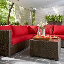 fancy plush design red patio furniture cushions covers uk canada