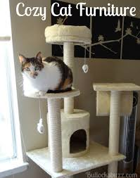 Cozy Cat Furniture Kitty Cat Condo Tree with Round Beds