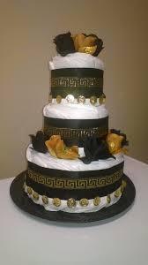 Designer Diaper Cakes Designer Inspired Versace Diaper Cake Cake Desserts Baby
