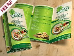 Tri Fold Restaurant Food Menu Template Free Psd By Psd