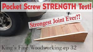32 Extreme Pocket Screw Strength Test