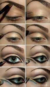 mermaid eyes makeup to look stunning this kinda has a hollywood look like cleopatra the site is in russian but it has several nice picture tutorials