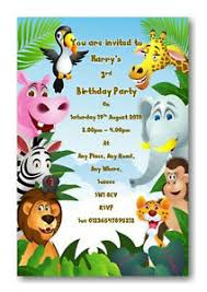 Jungle Theme Birthday Invitations Details About 12 Personalised Jungle Safari Theme Birthday Party Invitations Invite Ref B69