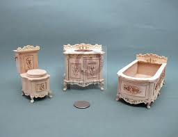 unfinished dollhouse furniture. Miniature 1:12 Scale Bath Room For Doll House[Unfinished] Unfinished Dollhouse Furniture