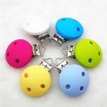 <b>Chenkai 10pcs</b> BPA Free <b>Silicone</b> Round Clips DIY Baby Teether ...