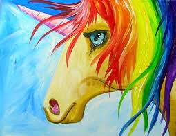 easy how to paint a rainbow unicorn step by step for the kid in all of us
