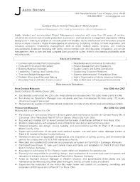 Construction Project Manager Resume Template Amazing Best Resume Examples For Project Managers With Construction Project