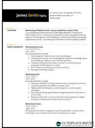 Marketing Cv Templates In Microsoft Word Format Free To Download