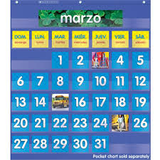 Spanish Date Chart Spanish Monthly Calendar Pocket Chart Add Ons