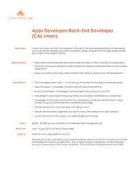 CAL Intern AppBackendDeveloper 20140507