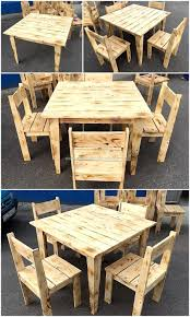 pallets as furniture. Simple Furniture Set Made With Pallets Wood As