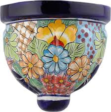 on talavera ceramic wall art with mexican tile model 8 mexican talavera ceramic wall planter pocket