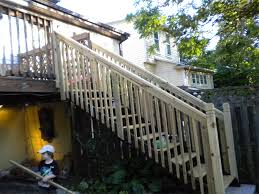 stairs with handrails