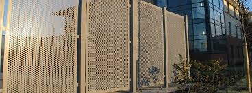 perforated corrugated metal four perforated sheet wall is installed as the residential fences perforated corrugated metal sheet