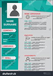 resume (cv) template infographics background and element, Can be used for  personal statistic