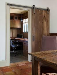 wooden sliding door view