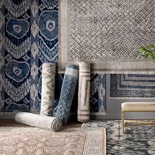 all rugs williams sonoma gorgeous ikat area rug printed navy diamond target