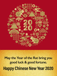 I love to learn with junior on the job! The Year Of Golden Rat Happy Chinese New Year Card For 2020 Birthday Greeting Cards By Davia