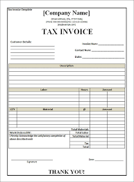 Tax Invoice Layout