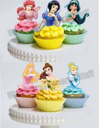 Printable Disney Princess Cupcake Toppers Princess Cupcake Picks