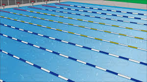olympic swimming pool background. Olympic Swimming Pool Lanes Beware The Germs In Pools Mild Blurred Background Sports