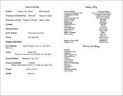 Catholic Wedding Mass Program Full Mass Wedding Program